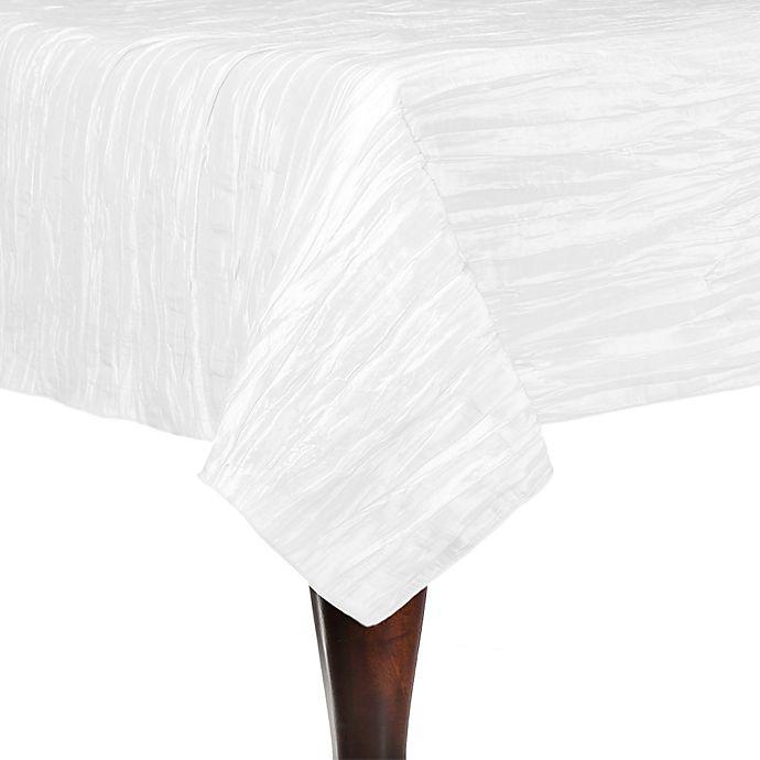 Alternate image 1 for Delano 84-Inch Square Tablecloth in White