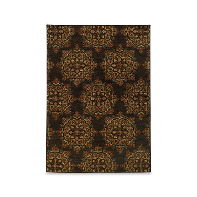 Alternate image 1 for Oriental Weavers Parker Medallion 3-Foot 10-Inch x 5-Foot 5-Inch Area Rug in Brown Multi