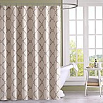 Madison Park Saratoga Printed Shower Curtain in Beige