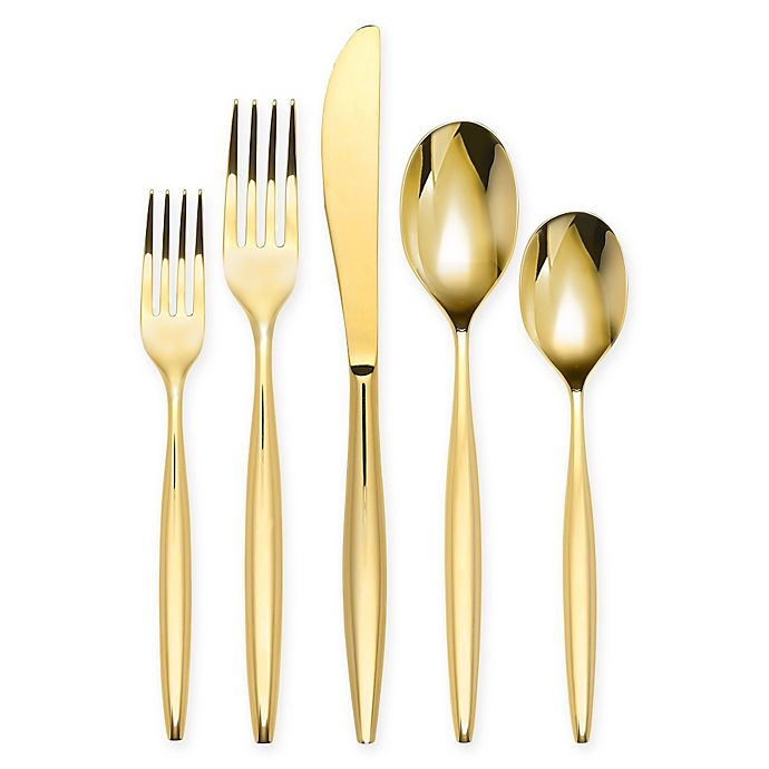Alternate image 1 for Olivia & Oliver™ Madison 5-Piece Flatware Place Setting in Gold