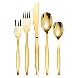 Olivia & Oliver Madison 20-Piece Flatware Set in Gold