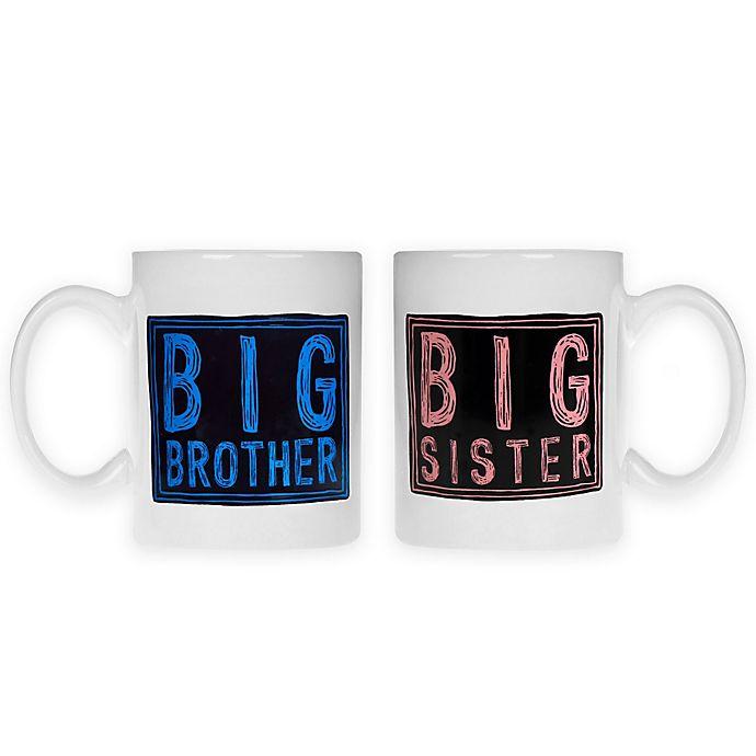 Alternate image 1 for Home Essentials & Beyond 2-Piece Big Brother and Big Sister Mug Set