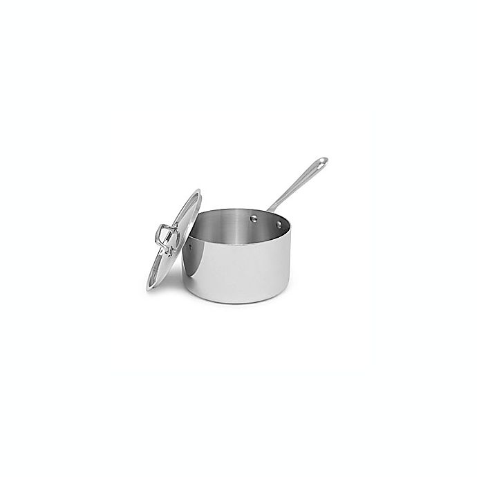 Alternate image 1 for All-Clad Stainless Steel 4-Quart Covered Saucepan