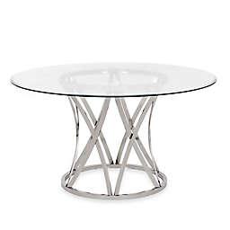 Safavieh Kyrie Dining Table in Chrome