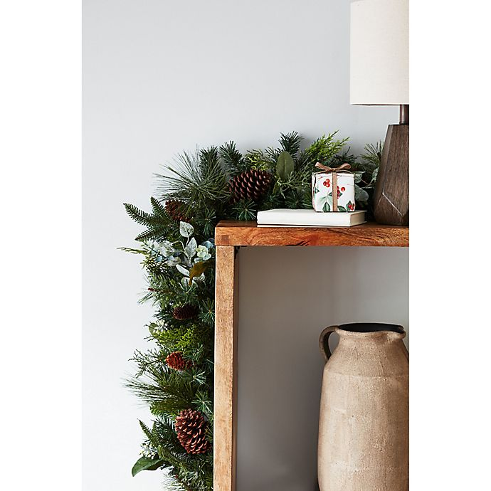 Alternate image 1 for Bee & Willow™ Home 6-Foot Pinecone/Berry Mixed Faux Pine Garland in Green
