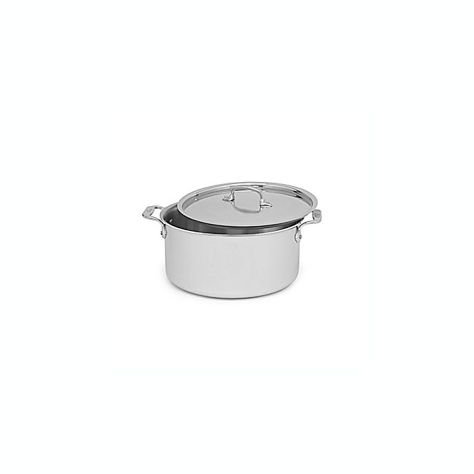 Alternate image 1 for All-Clad Stainless Steel 8 qt. Covered Stock Pot