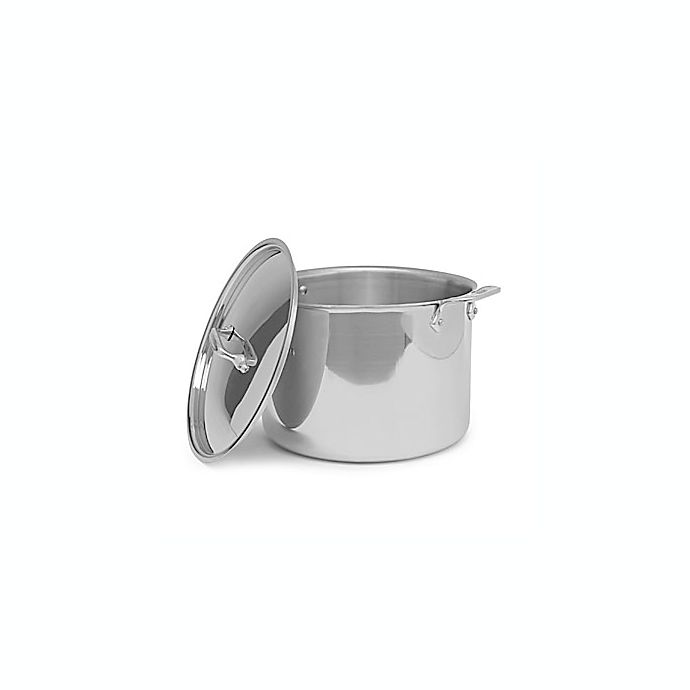 Alternate image 1 for All-Clad Stainless Steel 12 qt. Covered Stock Pot