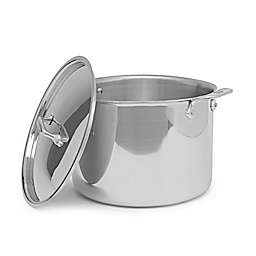 All-Clad D3 Nonstick 12 qt. Stainless Steel Covered Stock Pot