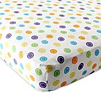 Baby Vision® Luvable Friends® Knitted Cotton Geometric Print Fitted Crib Sheet in Yellow
