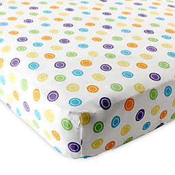 Baby Vision® Luvable Friends® Knitted Cotton Geometric Print Fitted Crib Sheet