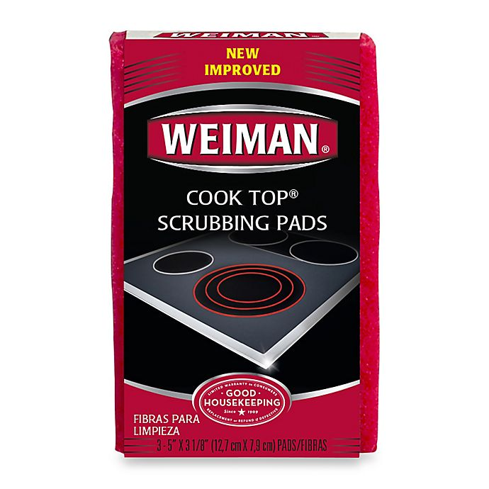 Alternate image 1 for Weiman® Cook Top Scrubbing Pads (Set of 3)