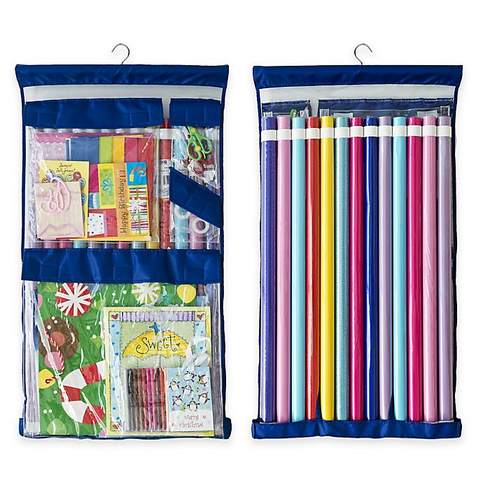Alternate image 1 for Wrappy Original Gift Wrap Storage Organizer in Royal Blue