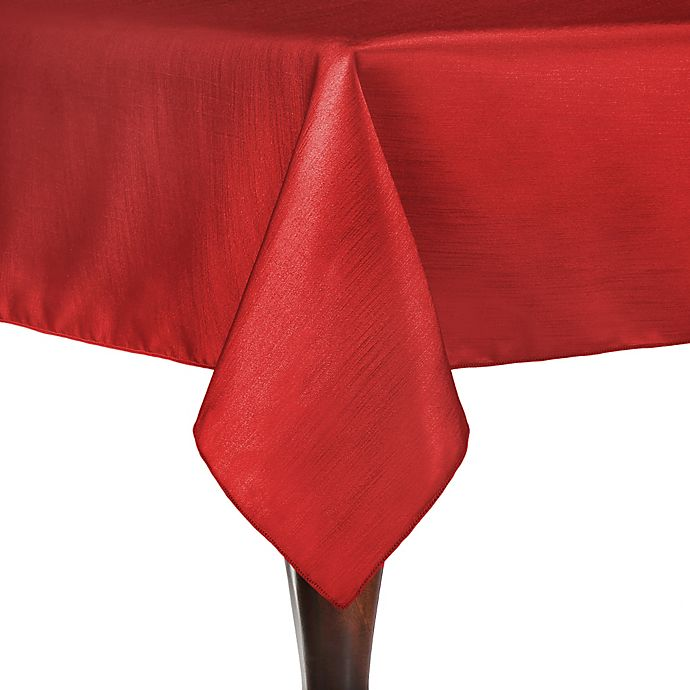 Alternate image 1 for Majestic 54-Inch x 54-Inch Square Tablecloth in Holiday Red