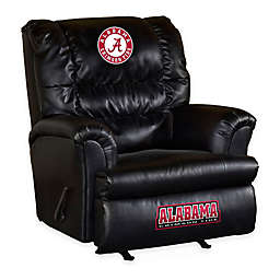 University of Alabama Bonded Leather Big Daddy Recliner