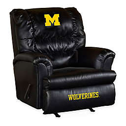 University of Michigan Bonded Leather Big Daddy Recliner