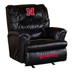 University of Nebraska Bonded Leather Big Daddy Recliner