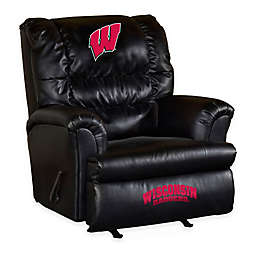 University of Wisconsin Bonded Leather Big Daddy Recliner