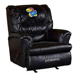 University of KansasBonded  Leather Big Daddy Recliner