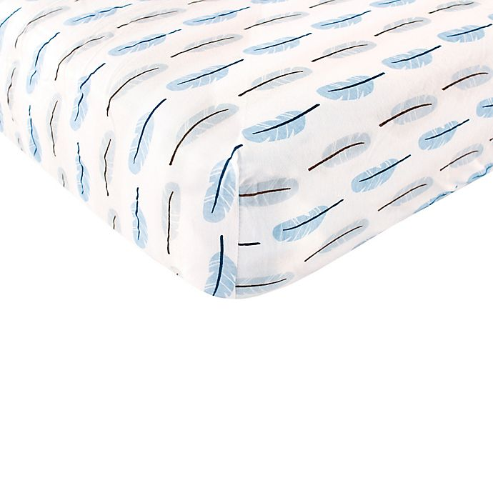 Alternate image 1 for BabyVision® Touched By Nature 100% Organic Cotton Feather Fitted Crib Sheet