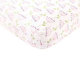 BabyVision® Touched By Nature 100% Organic Knitted Cotton Flower Fitted Crib Sheet