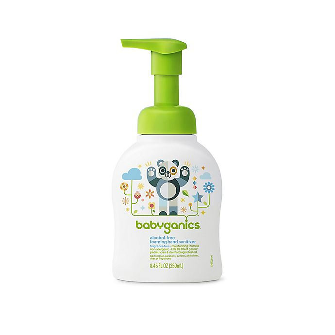 Alternate image 1 for Babyganics® 8.45 oz. Fragrance-Free Alcohol-Free Foaming Hand Sanitizer