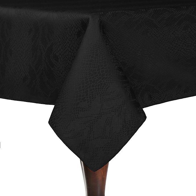 Alternate image 1 for Kenya 84-Inch Square Tablecloth in Black