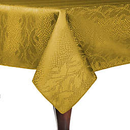 Ultimate Textile Kenya Damask 54-Inch Square Tablecloth in Flax