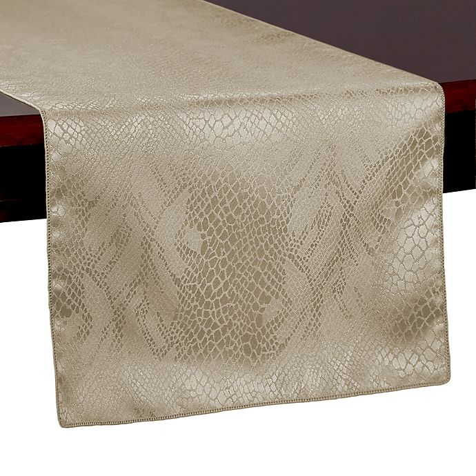 Alternate image 1 for Ultimate Textile Kenya Damask 108-Inch Table Runner in Natural