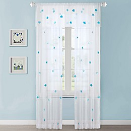 Mi Zone Kids Lily Sheer Window Curtain Panel and Valance