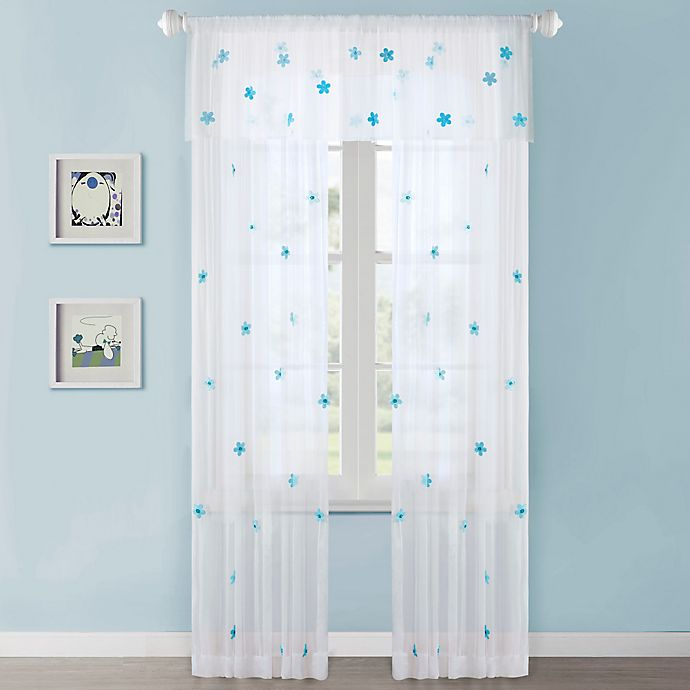 Alternate image 1 for Mi Zone Kids Lily Sheer Window Curtain Panel and Valance