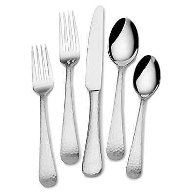 Mikasa® Hammered Opulent Flatware Collection in Satin