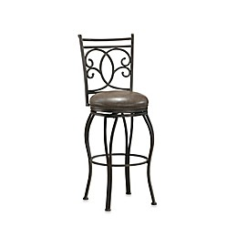 American Heritage Nadia Swivel Stool in Grey