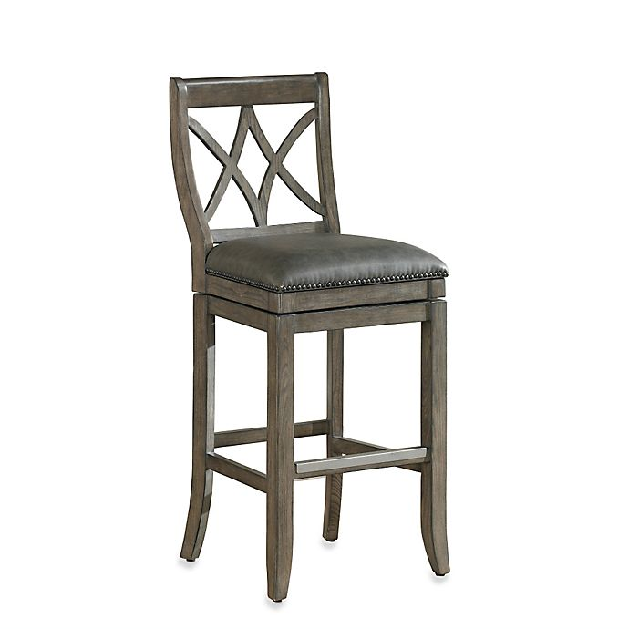 Alternate image 1 for American Heritage Hadley Counter Height Swivel Stool in Light Grey