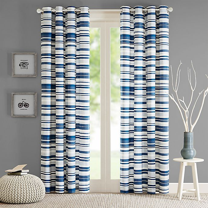 Alternate image 1 for Intelligent Design Sadie 63-Inch Grommet Top Window Curtain Panel in Blue