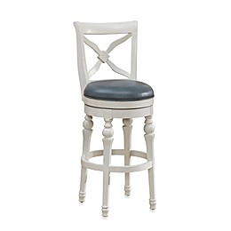 American Heritage Livingston Swivel Stool in Cornflower