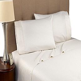 Modern Living Geo Cloud 300-Thread-Count Organic Cotton Sheet Set in Beige