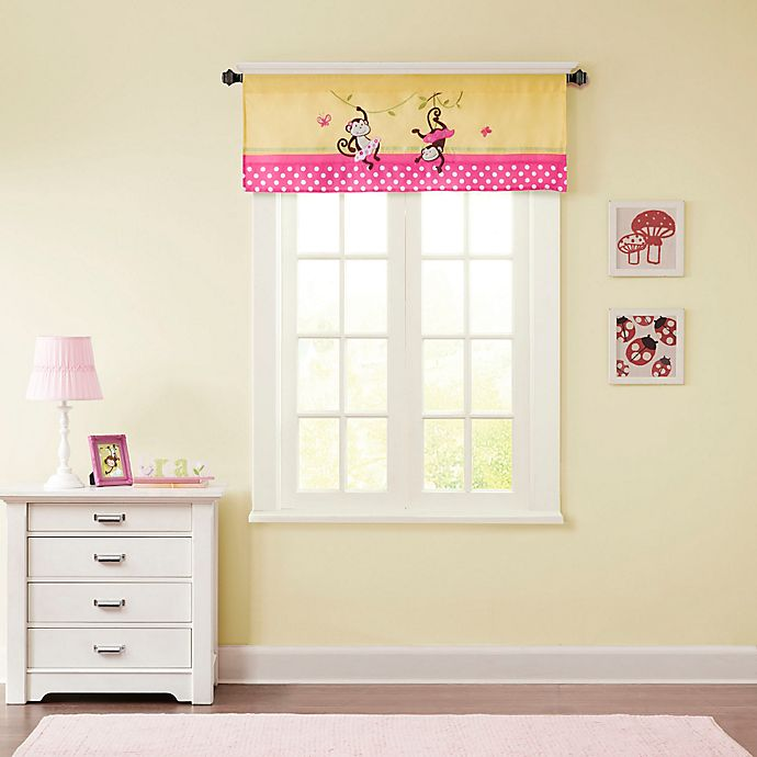 Alternate image 1 for Mi Zone Kids Monkey Business Window Valance in Yellow