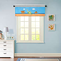 Mi Zone Kids Dinosaur Dreams Window Valance in Blue