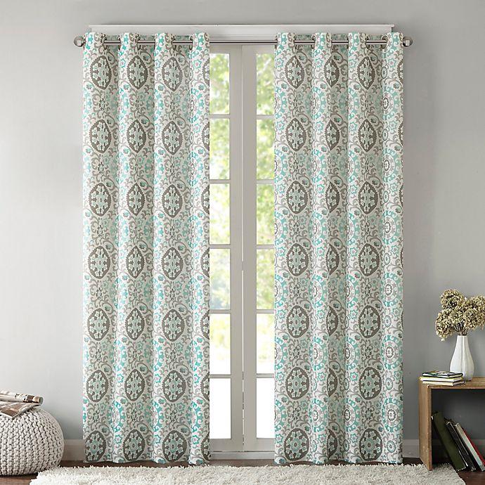 Alternate image 1 for Intelligent Design Seville 63-Inch Grommet Top Window Curtain Panel in Aqua