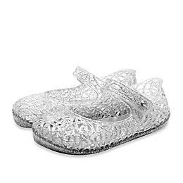 Stepping Stones Mary Jane Jelly Sandal in Silver