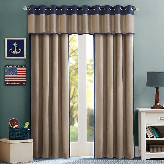 Alternate image 1 for Mi Zone Kids Liam Window Curtain Panel and Valance