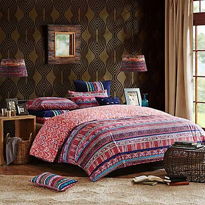 Josie by Natori Katina Comforter Set in Blue/Red