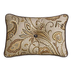 HiEnd Accents Paisley Tufted Oblong Throw Pillow