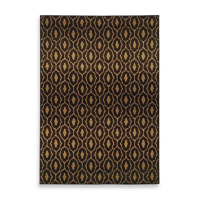 Alternate image 1 for Oriental Weavers Parker Circles 9-Foot 10-Inch x 12-Foot 10-Inch Area Rug in Black/Gold