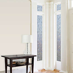 Cut Floral Premium Static Cling Sidelight Window Film in Clear