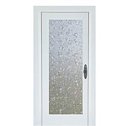 Cut Floral Premium Static Cling Glass Door Film in Clear