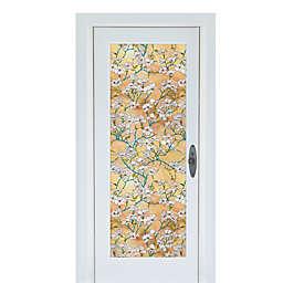 Dogwood Premium Static Cling Glass Door Film in Gold