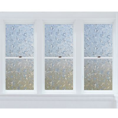 Cut Floral Premium Static Cling Window Film In Clear Bed