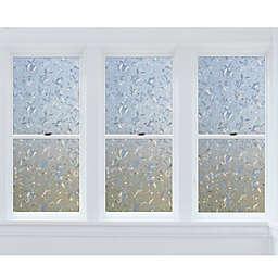 Cut Floral Premium Static Cling Window Film in Clear