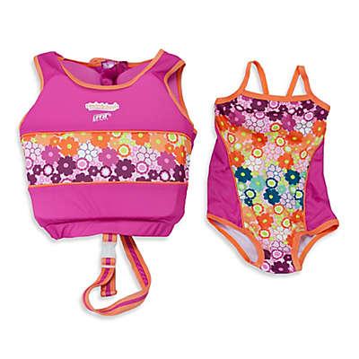 Aqua Leisure® Girls' 2-Piece Swim Trainer in Pink